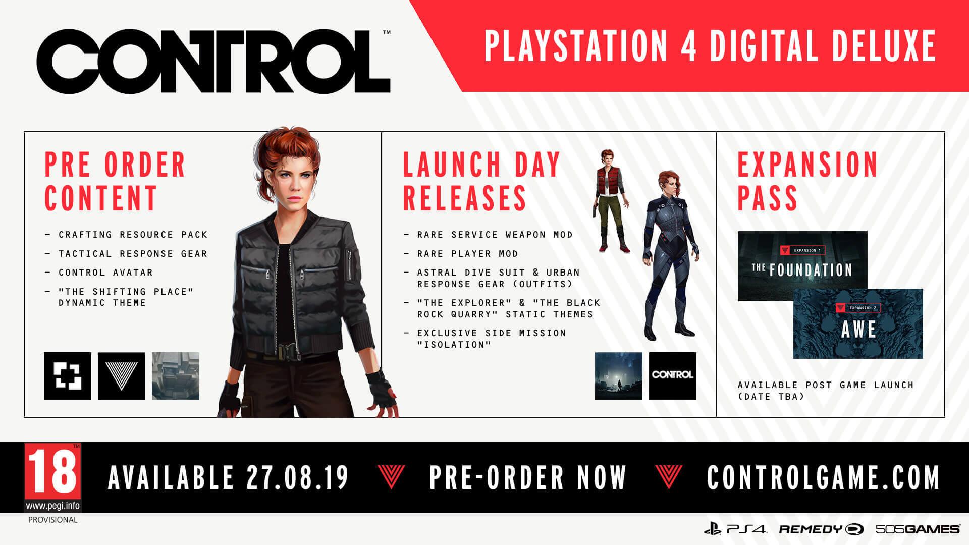 Control - PS4 Digital Deluxe