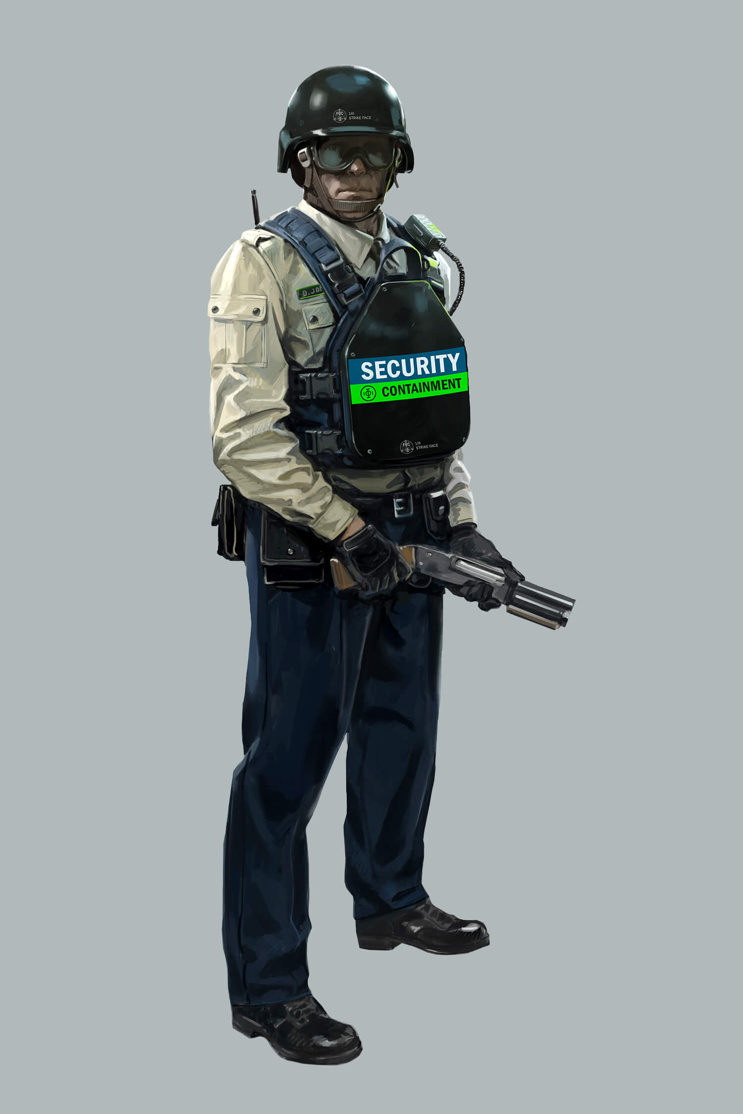 Control - Hiss corrupted security guard concept